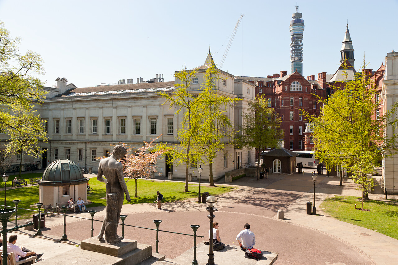 UCL main campus view in Bloomsbury
