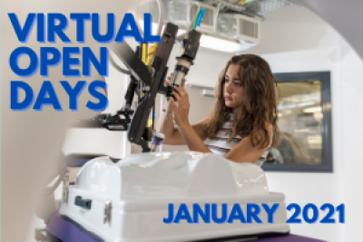 Text reads: Virtual Open Days, January 2021