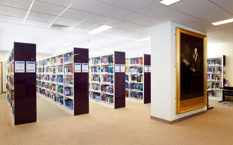 Royal Free bookshelves