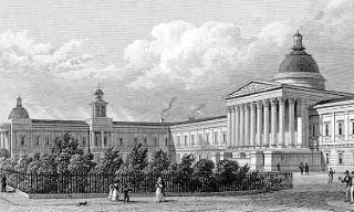 University College's main building in the late 1820s…