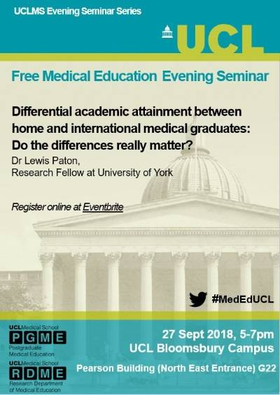 27th September 2018 Evening Seminar