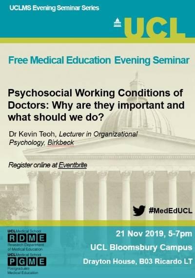 Flyer for evening seminar