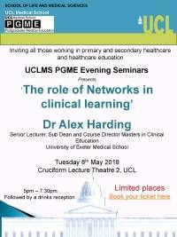 'The role of Networks in clinical learning' flyer