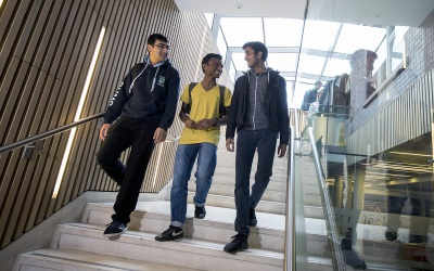 students in the Cruciform Hub