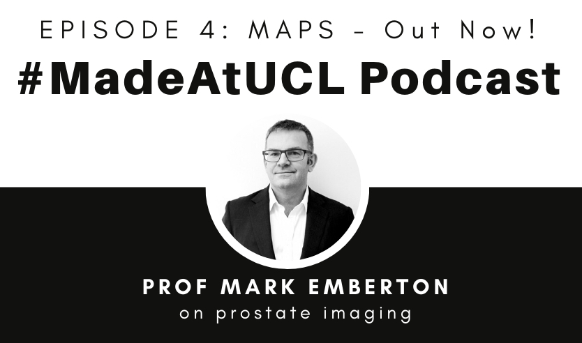 Podcast graphic featuring Mark Emberton