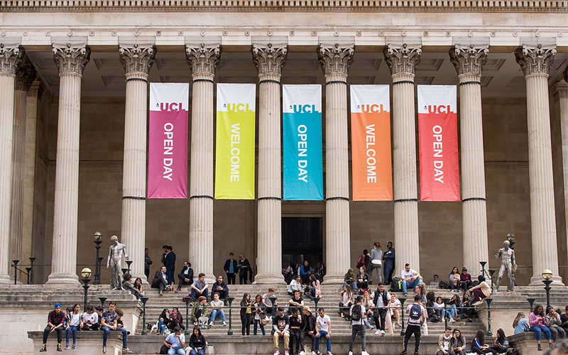 open day at ucl portico building