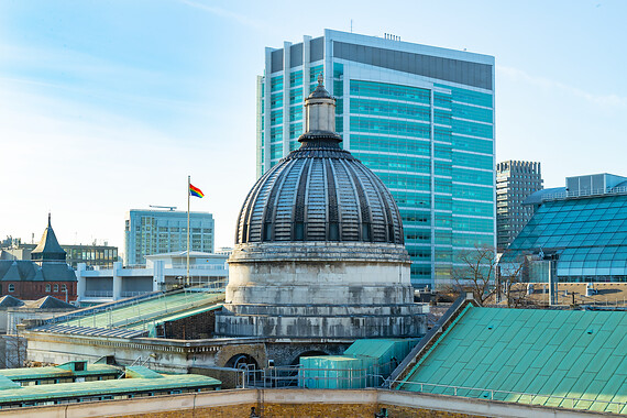 UCL campus overlooking UCLH