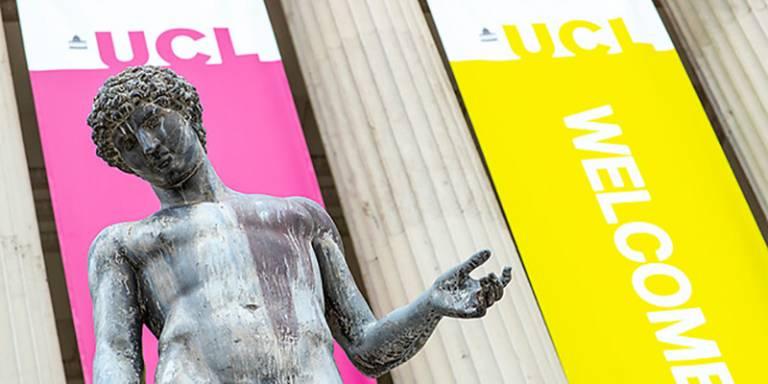 ucl statue portico