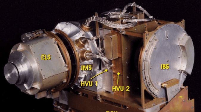 Photograph of the CAPS flight model prior to delivery to the Cassini spacecraft.  From: Young et al. (2004)