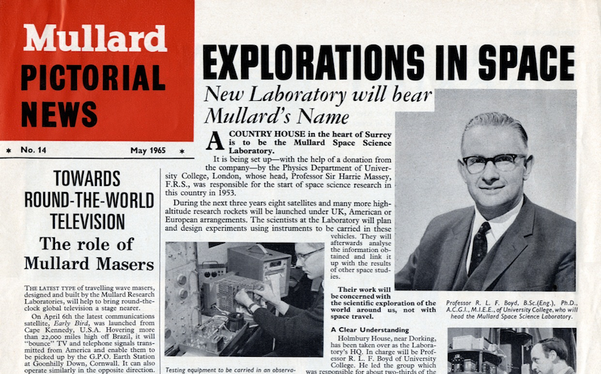 MSSL covered in Mullard Newsletter, May 1965