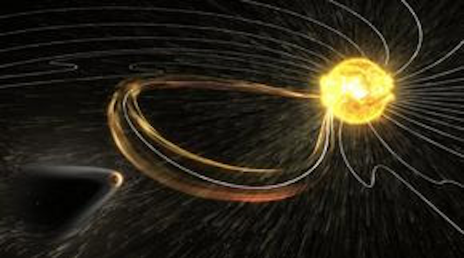 Artist's impression of a CME hitting a planet