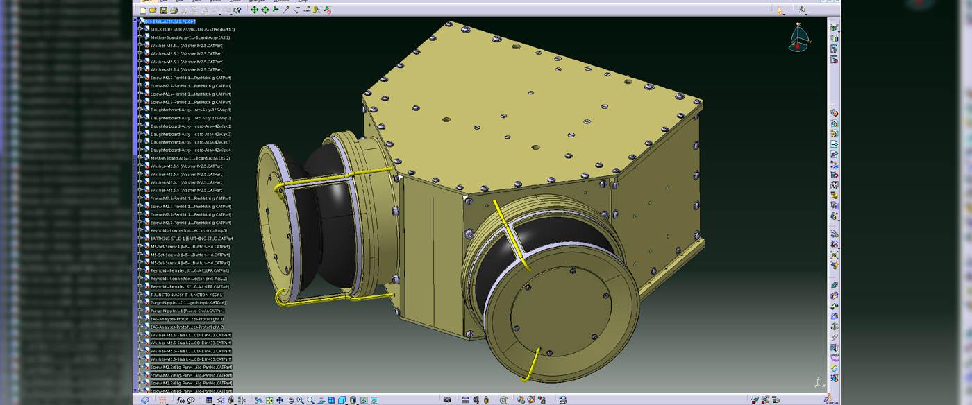 Solar Orbiter EAS instrument CAD model.
