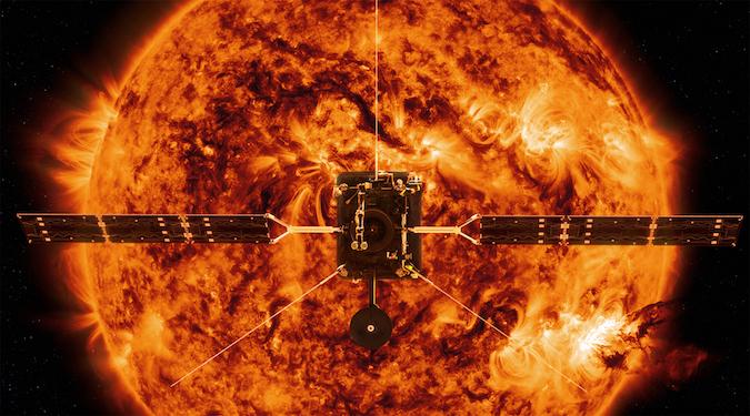 ESA Solar Orbiter facing the Sun. Credit: ESA/NASA
