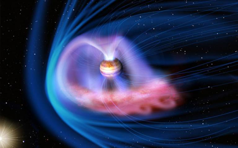 Artistic rendering of Jupiter's magnetosphere (credit: JAXA)