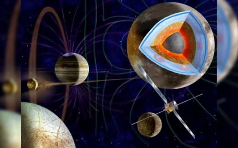 Artist's impression of ESA's JUICE mission (Credit: ESA/M. Carroll)