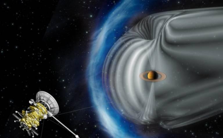 Cassini and Saturn's Magnetosphere. Credit: ESA