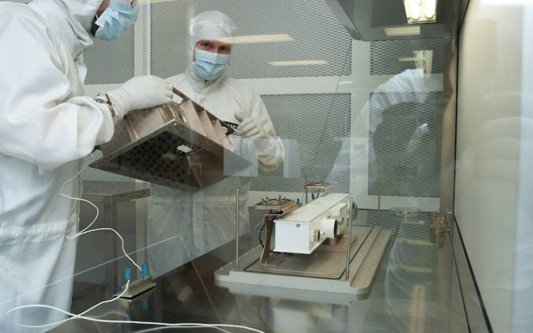 PanCam being packed for delivery in one of the MSSL cleanrooms