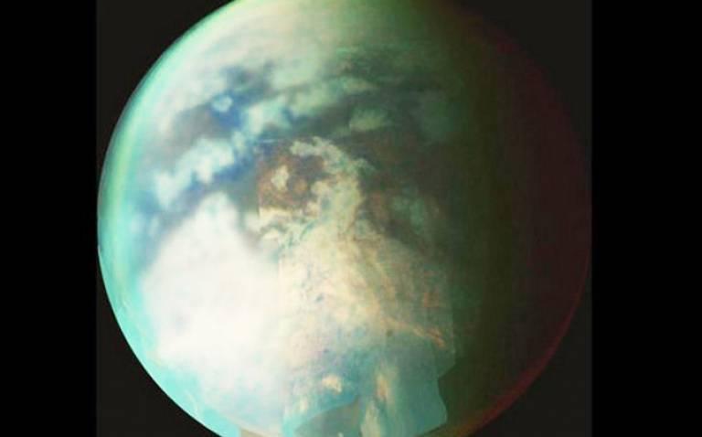 Saturn's largest moon Titan (Credit: NASA/JPL/U. Arizona)
