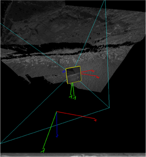 Screen shot of 3D point cloud and texture viewer