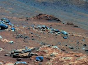 Carbonate-containing martian rocks