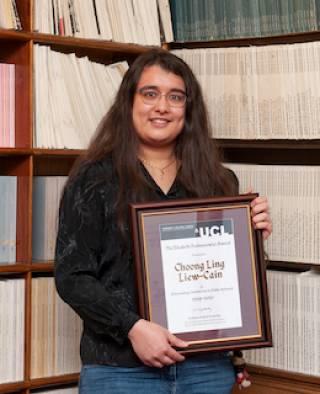 Elizabeth Puchnarewicz Award winner Choong Ling Liew-Cain