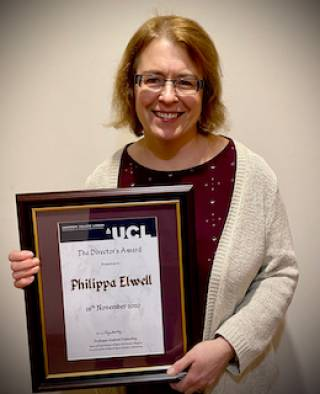 Director's Award winner Philippa Elwell
