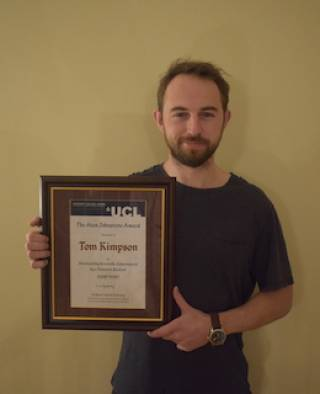 Alan Johnstone award winner Tom Kimpson