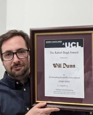 Robert Boyd Award winner William Dunn