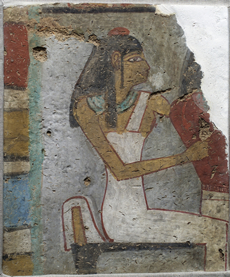 UC 28722, painting showing a seated woman