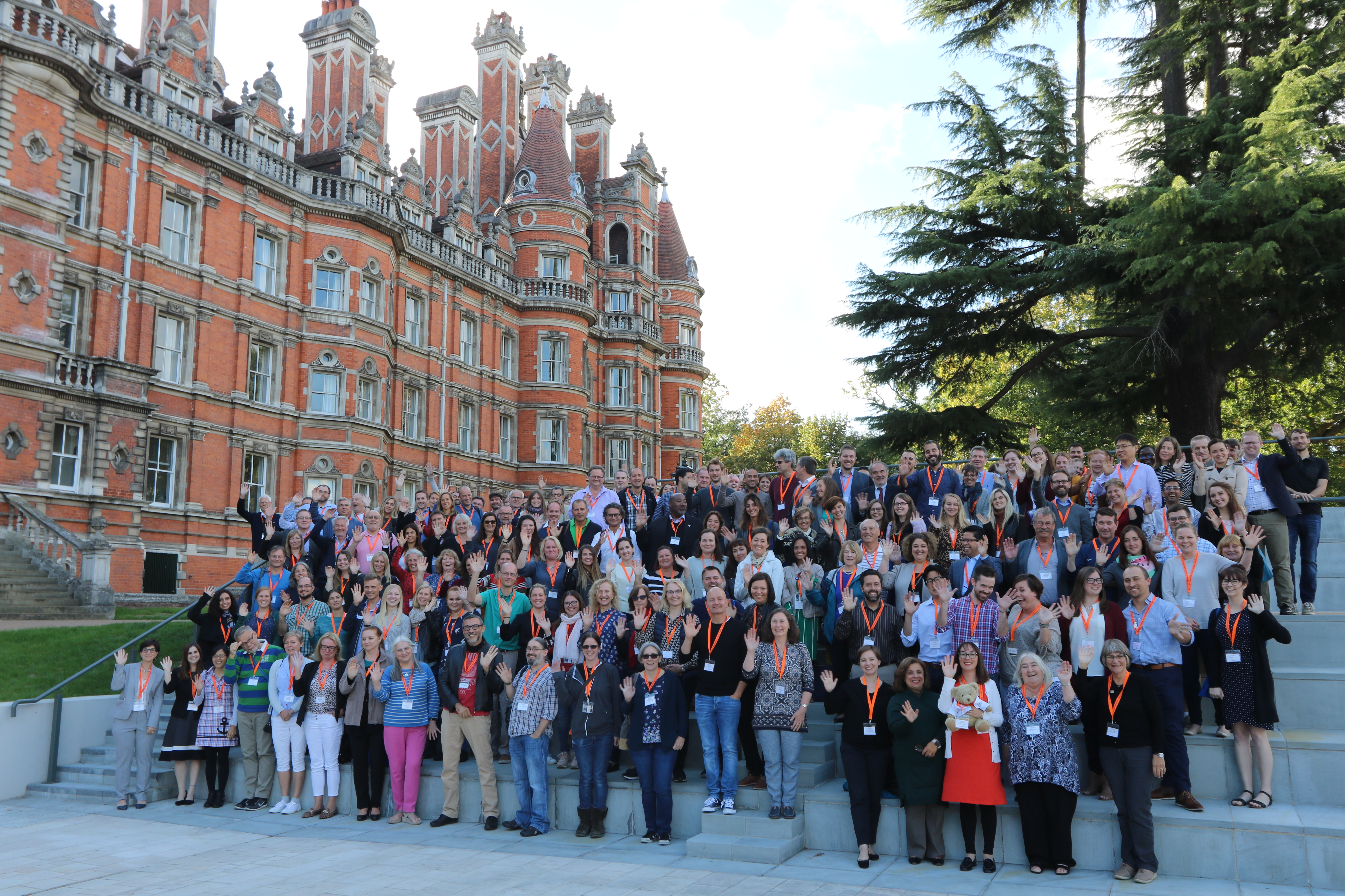 Group of NCL researchers at a conference