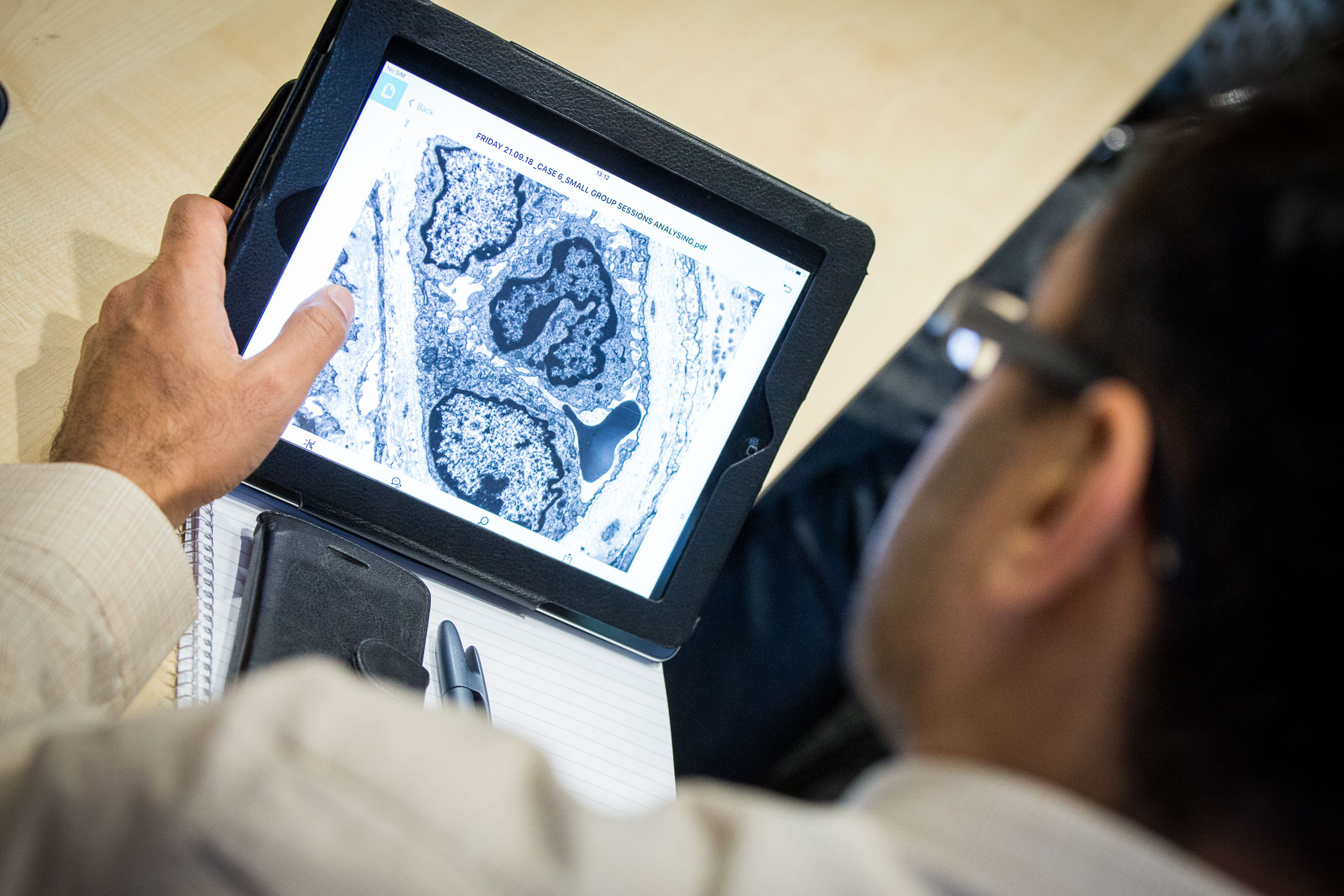 Transplantation Course - Histology Group sessions with iPads