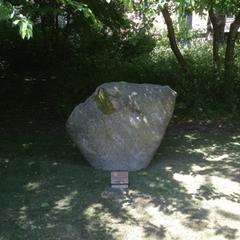 IoA 75th anniversary monolith