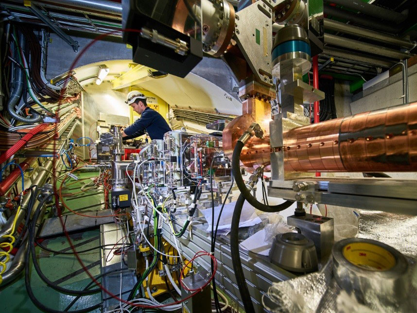 First ever acceleration of electrons in a proton-driven