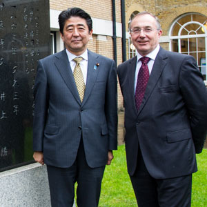 Prime Minister Abe and Professor Michael Arthur