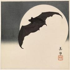 Yoshikuni Bat and Full Moon © UCL Art Museum