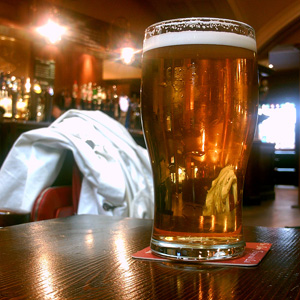 Beer glass by Tim Dobson on Flickr (square)