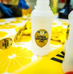 A lemonade bottle on Citrus Saturday