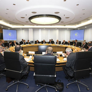 European Central Bank governing council meeting