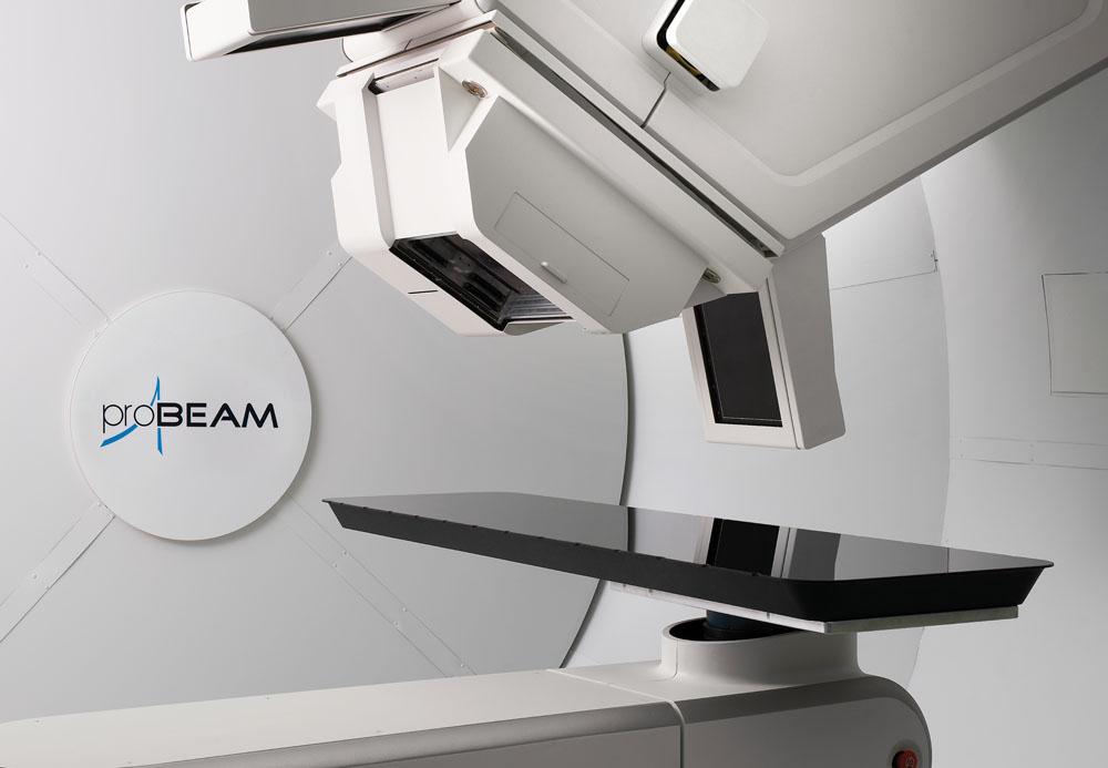 CGI of proton beam therapy equipment