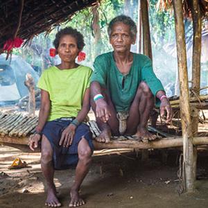 Elderly Agta couple, Philippines