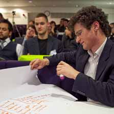 Brainstorming at the 'Business not as usual' conference