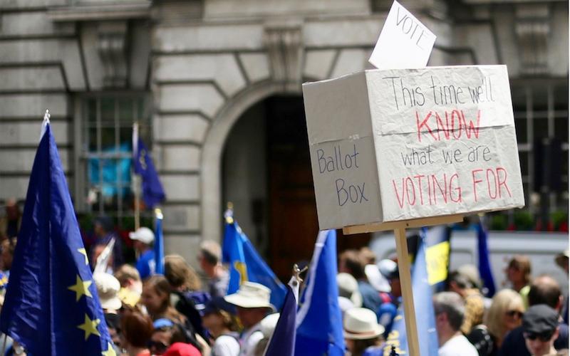 Brexit referendum demonstration