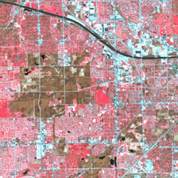 Satellite image of downtown Chicago