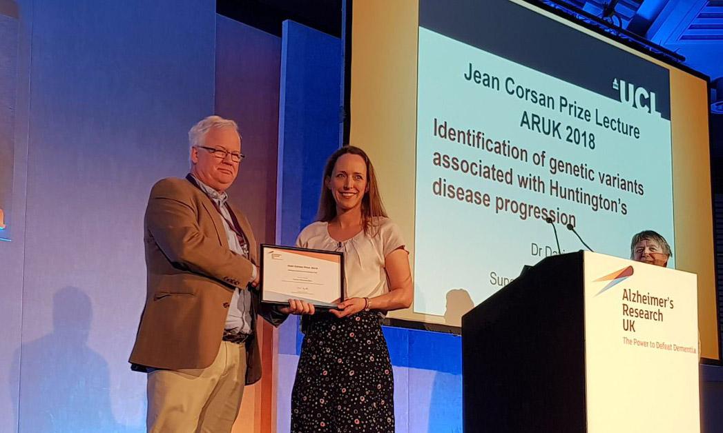Dr Davina Hensman Moss wins Alzheimer's UK Research Prize
