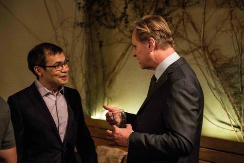 DeepMind co-founder Demis Hassabis with fellow alumnus Christopher Nolan.