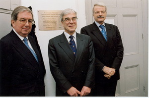 Dr David Giachardi (RSC), Professor Robin Clark & Professor Malcolm Grant