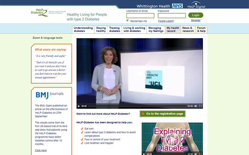 NHS rolls out UCL developed online tool for managing type-2