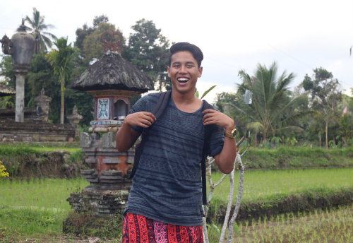 Ifkar Arifin on his summer placement in Bali