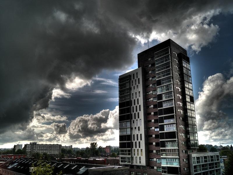 Dark clouds urban