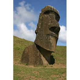 One of the Rapa Nui moai